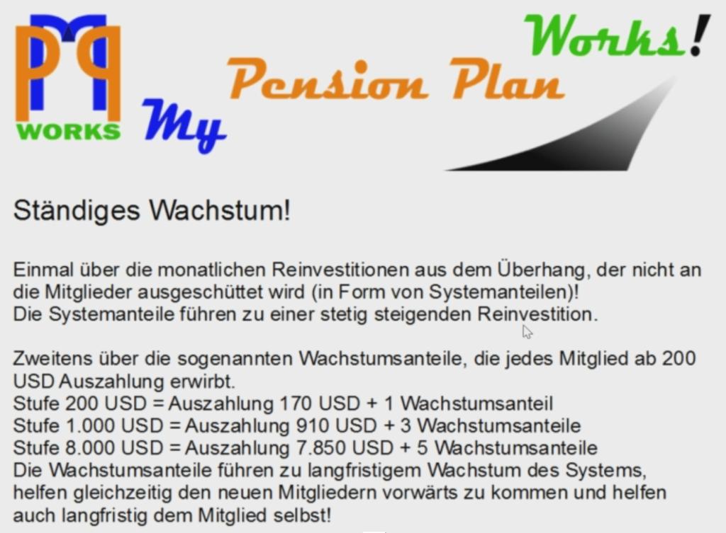 Mypensionplan System- und Wachstumsanteile