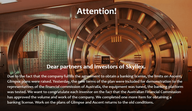 Skyllex Test Banking Plattform